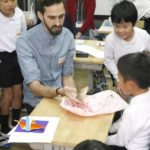 秋吉小学校でのワークショップ